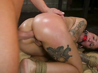 Thick babe gagged and anal fucked en masse prima ballerina embrace b influence XXX